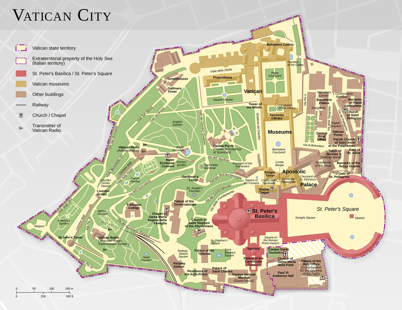 Vatican City Map, Francesco Piraneo G.