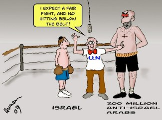 Israel vs. Arabs by Barry Hunau, Jerusalempost