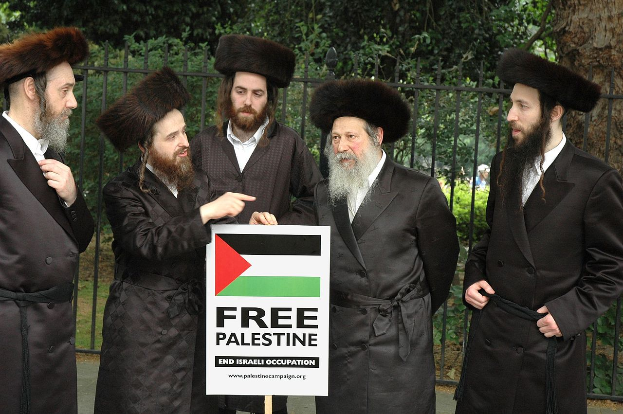 Members of Neturei Karta Orthodox Jewish group protest against Israel
