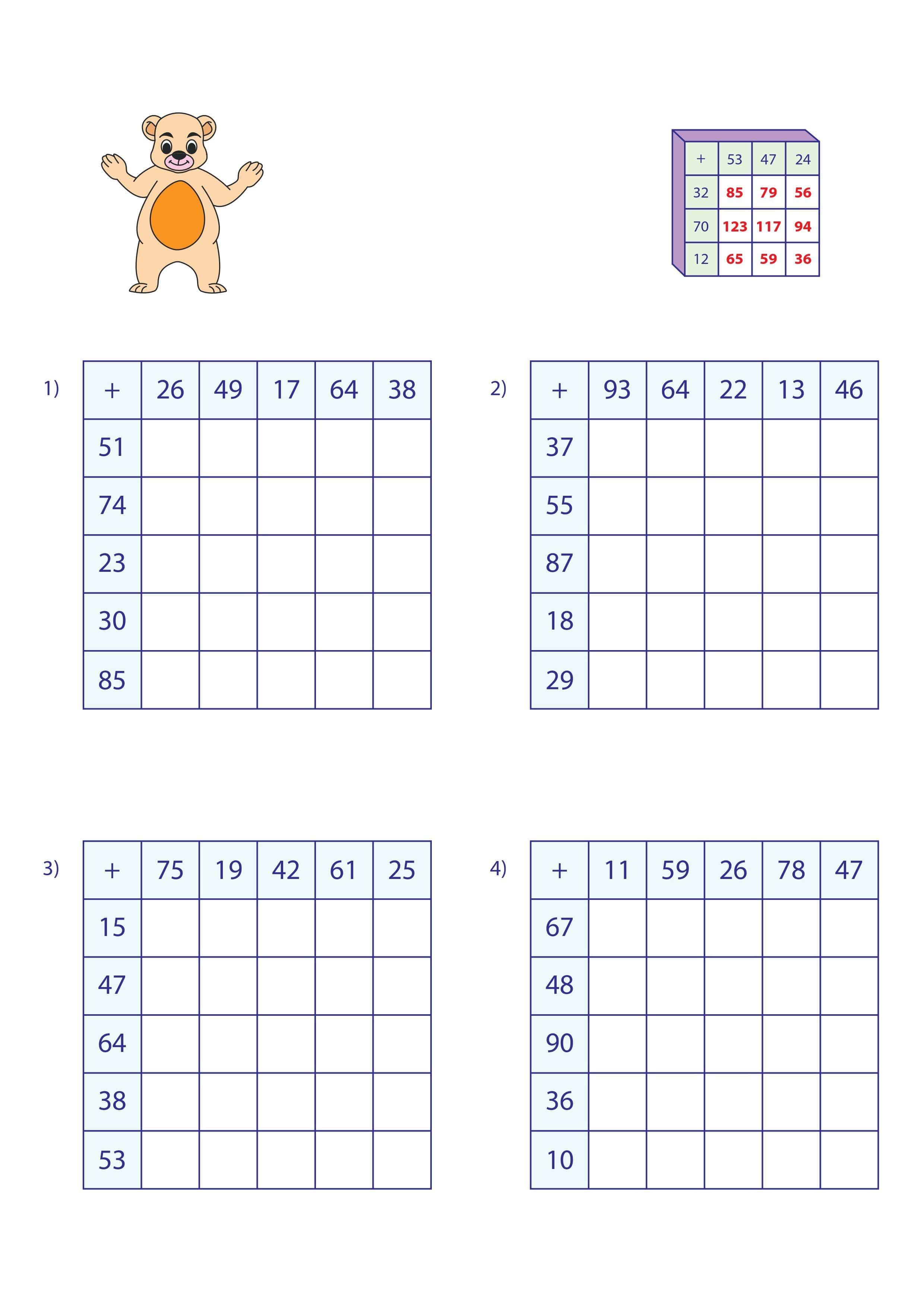 Addition Puzzle Sheet 1