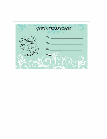 to download this gift certificate template developed in microsoft word