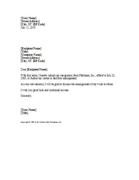 basic yet professional resignation letter letter templates ready
