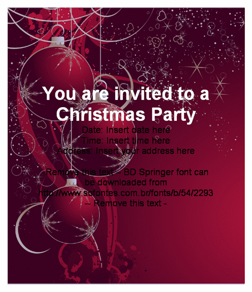Free Christmas Party Template Christmas Party Template Free – Free Templates Christmas Invitations