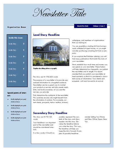 free real estate newsletter template newsletter templates ready