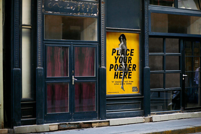 3 urban poster mockups best free mockups