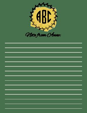 Free Monogrammed Stationery - Personalize online \u0026 Print ...