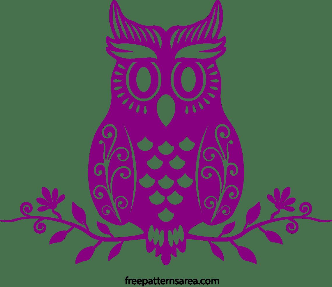 Download Cute Owl Vector Art Cutting Template | FreePatternsArea