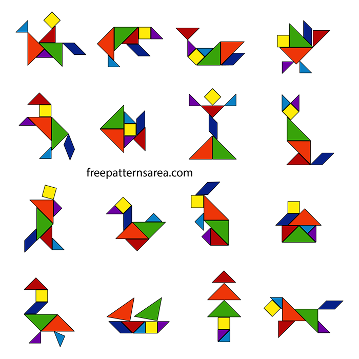 Tangram Puzzle Dissection Toy Plan FreePatternsArea