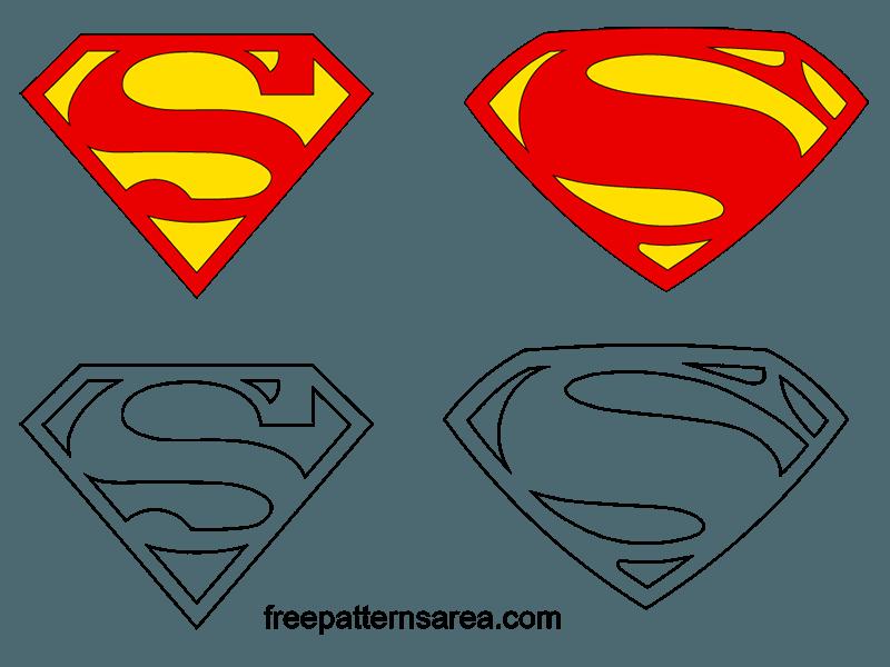 Superman Symbol Logo Vectors Freepatternsarea