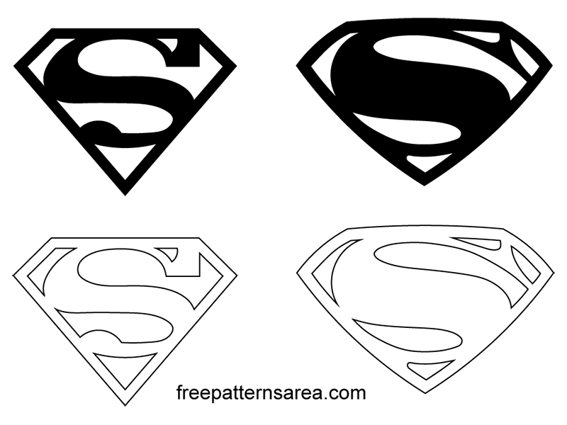 Superman Symbol Logo Vectors Freepatternsarea