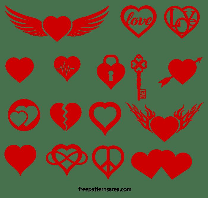 Download Free Love Heart Symbol Vectors | FreePatternsArea