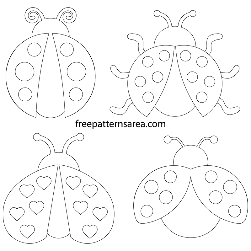 Printable Ladybug Clipart Vectors Free Svg Files