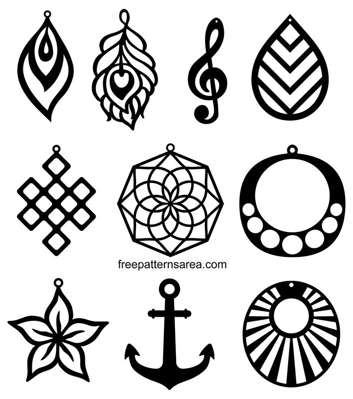 Download Free Svg Cutting Templates For Faux Leather Earring ...