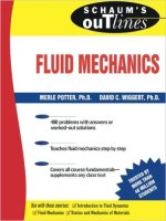 schaum's outline of fluid mechanics and hydraulics PDF