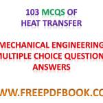 HEAT TRANSFER – Mechanical Engineering Multiple choice Questions Answers