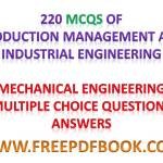 INDUSTRIAL ENGINEERING – Mechanical Engineering Multiple choice Questions Answers
