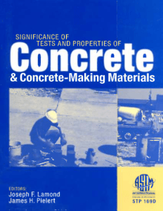 significance of tests and properties of concrete and concrete-making materials pdf