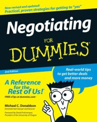Negotiating For Dummies book pdf free download