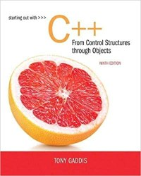 Starting Out with C++ from Control Structures to Objects Book Pdf Free Download