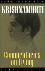 Commentaries on Living: First Series book pdf free download