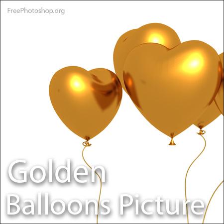 Golden Balloon Picture