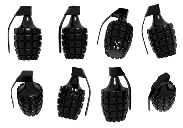 Black Grenade PSD and Picture