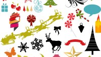 Christmas Vectors, Brushes, PNG, Shapes & Picture