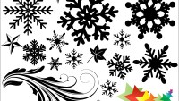 Snowflakes Vectors, Brushes, Shapes, PNG & Pictures