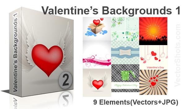Valentines Backgrounds Vectors Pictures
