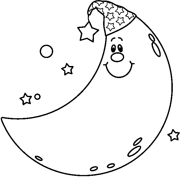 Download Moon Coloring Page Stars Moons Png Image Clipart Png Free Freepngclipart