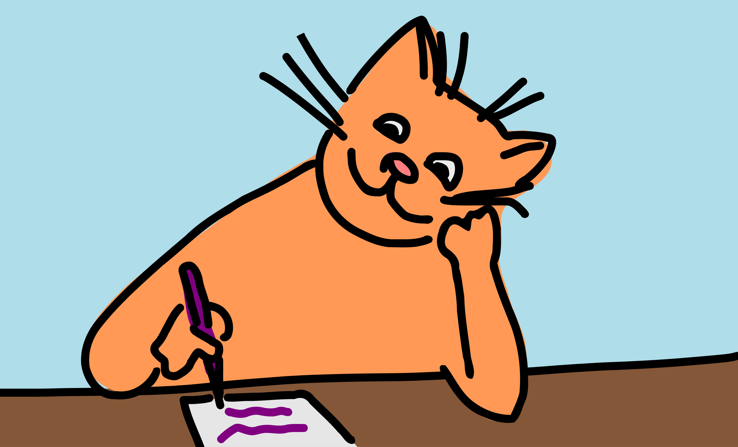 Image result for Image of a cat writing, free images