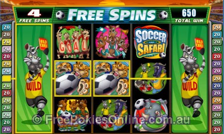 Soccer Safari Free Spins Feature