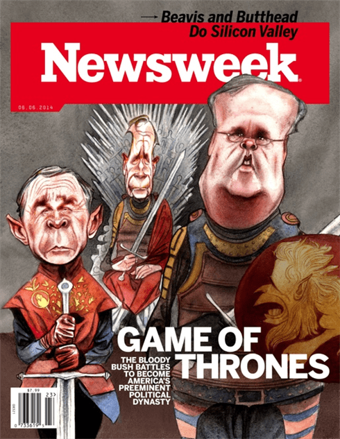newsweek-bushes