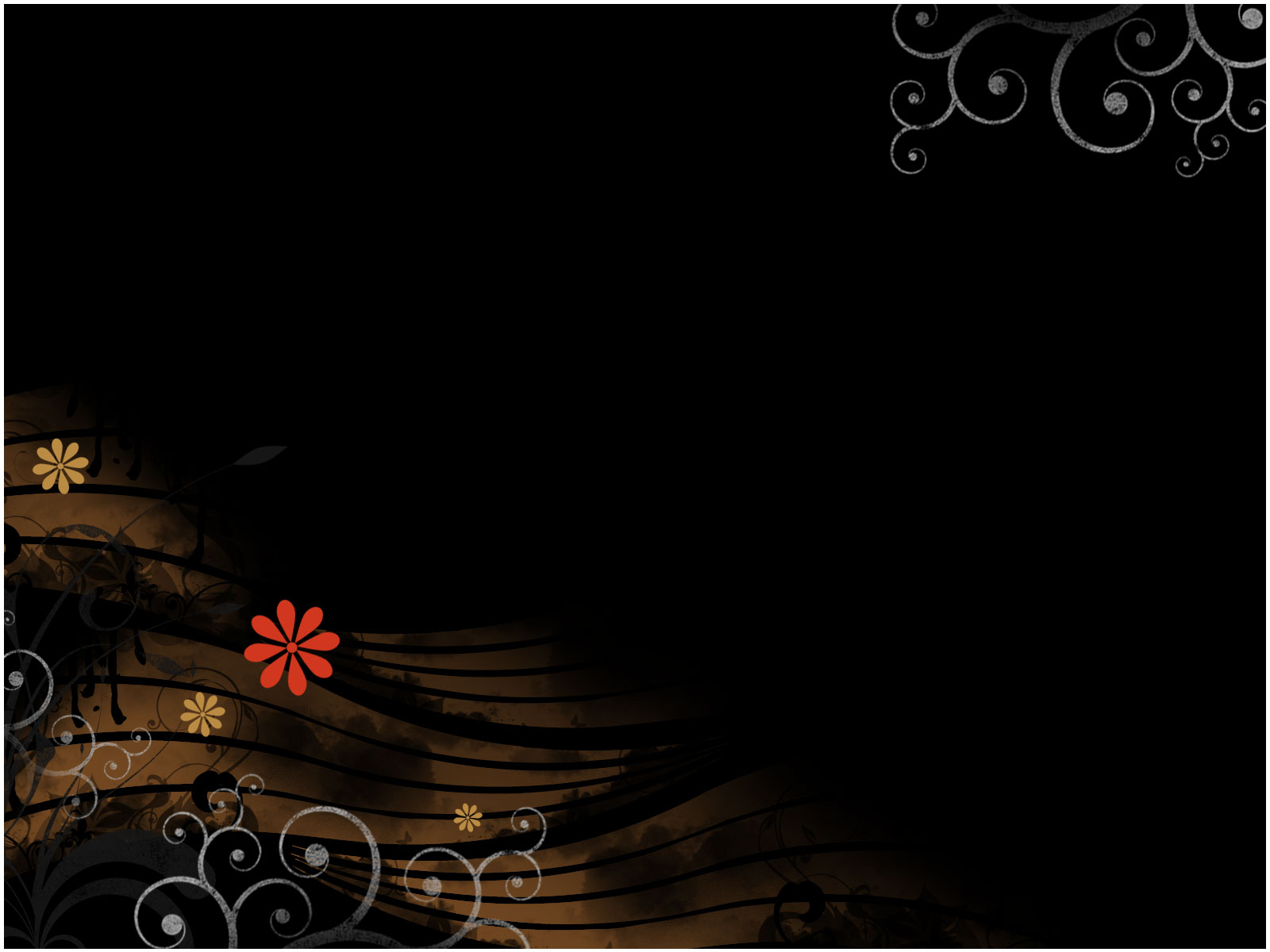 mysterious flower ppt template « ppt backgrounds templates, Modern powerpoint