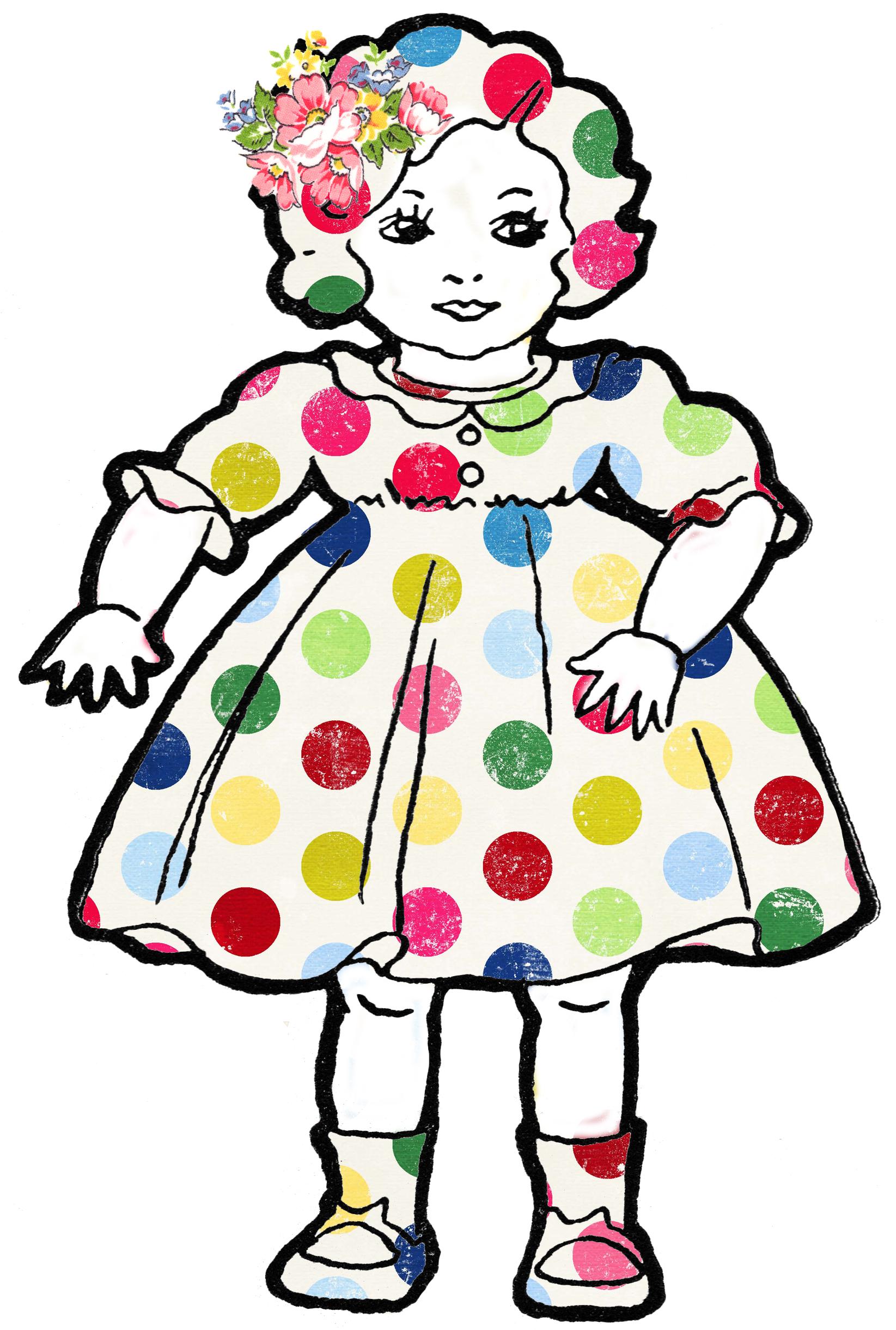 Adorable Altered Art Shabby Dolls Vintage Clip Art - Free ... (1645 x 2443 Pixel)
