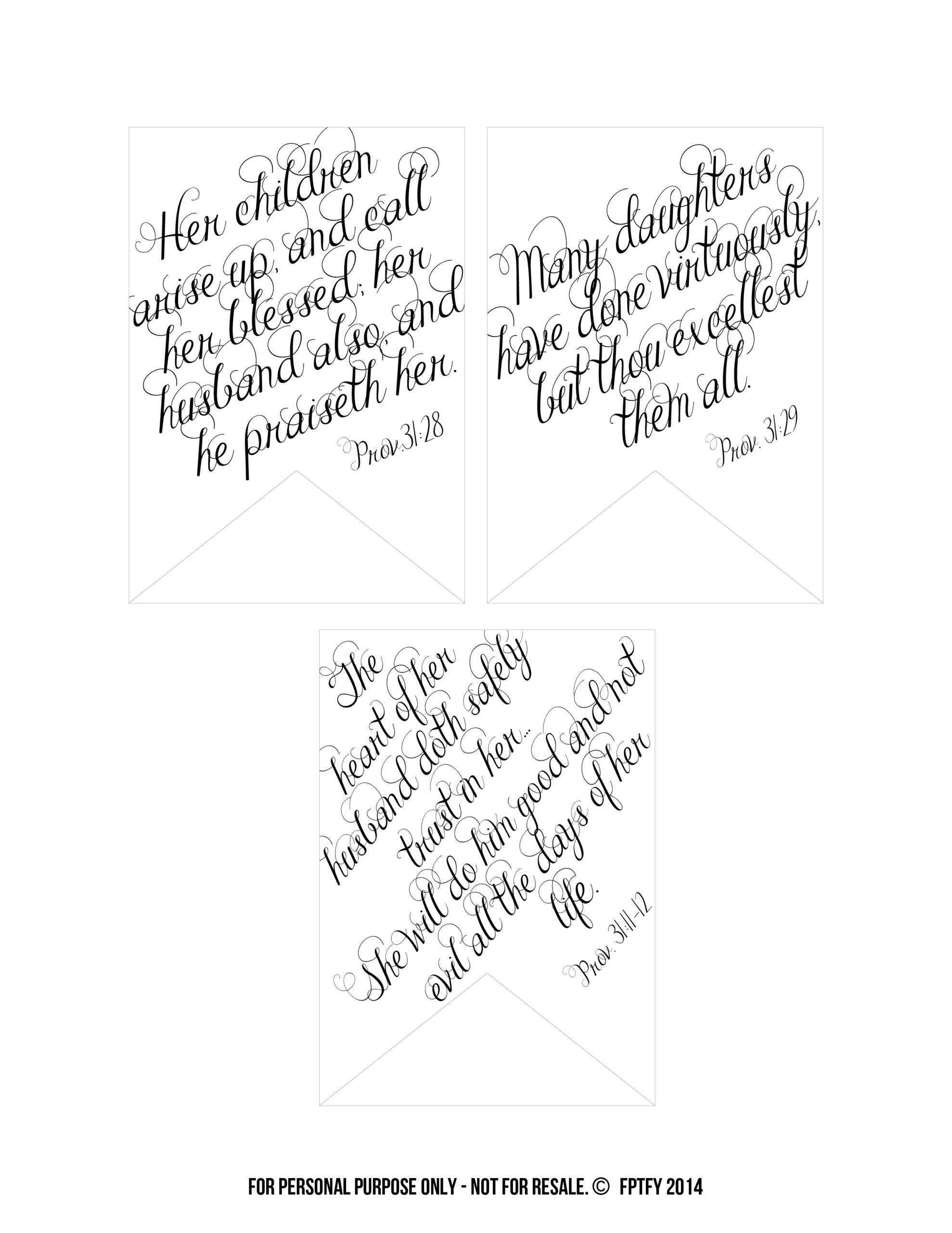 Printable Bible Verses Proverbs 31 Tags