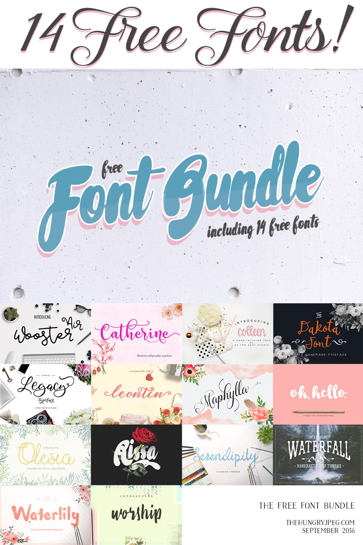 Download The Free 14 Fonts Bundle - Expires in 3 Days! - Free ...