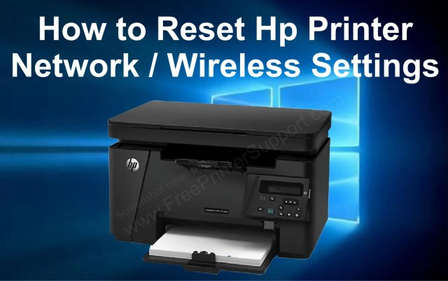 How to Reset HP Printer Network Settings (Reset Wireless Settings)