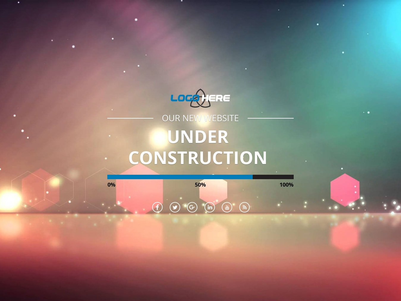 Under construction website  html css3 psd design free download