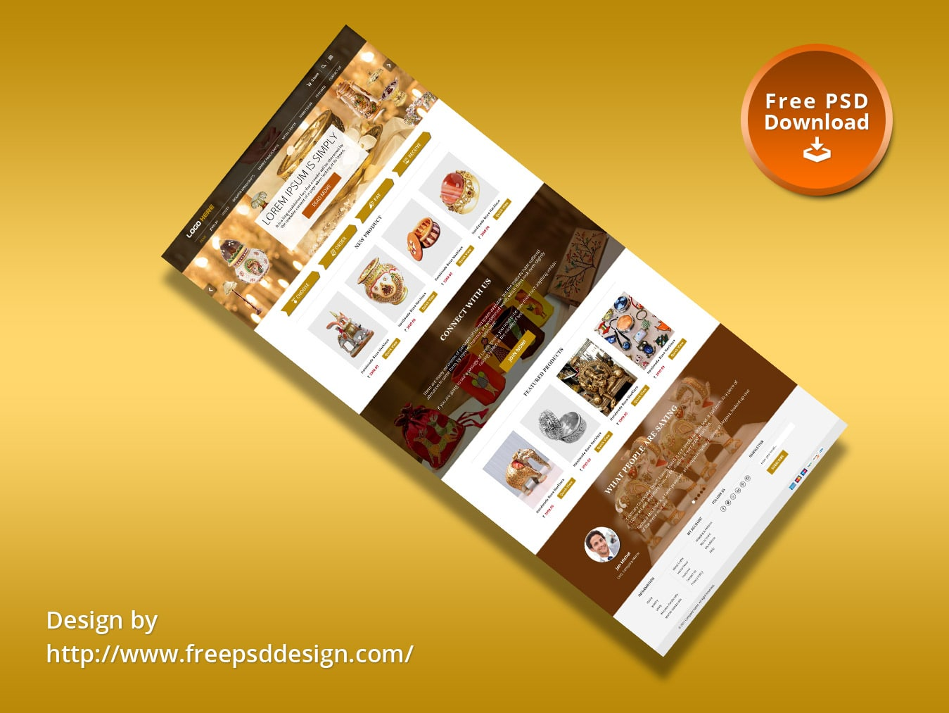Handicraft e-commerce website theme template