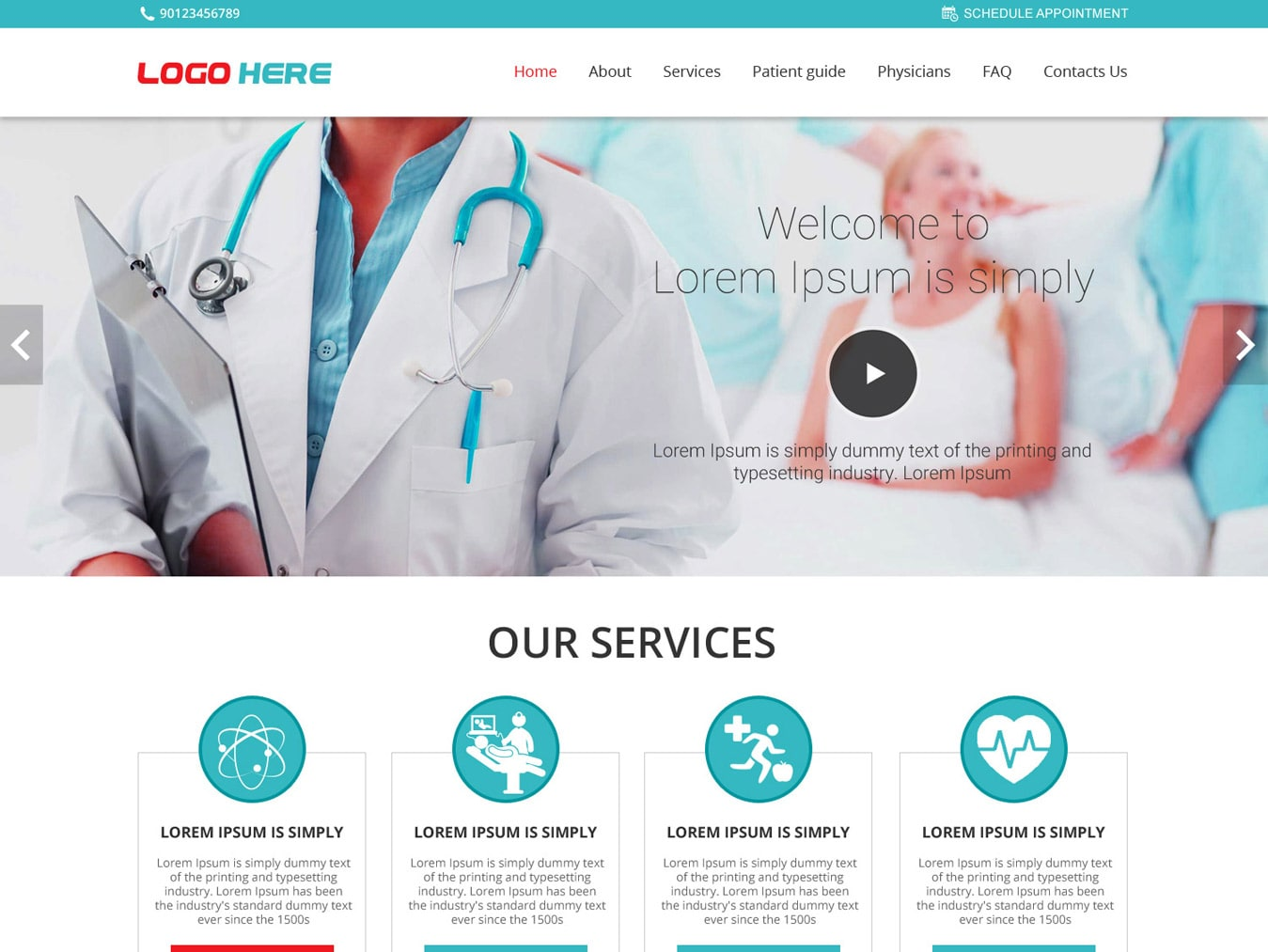 Medical doctor website template