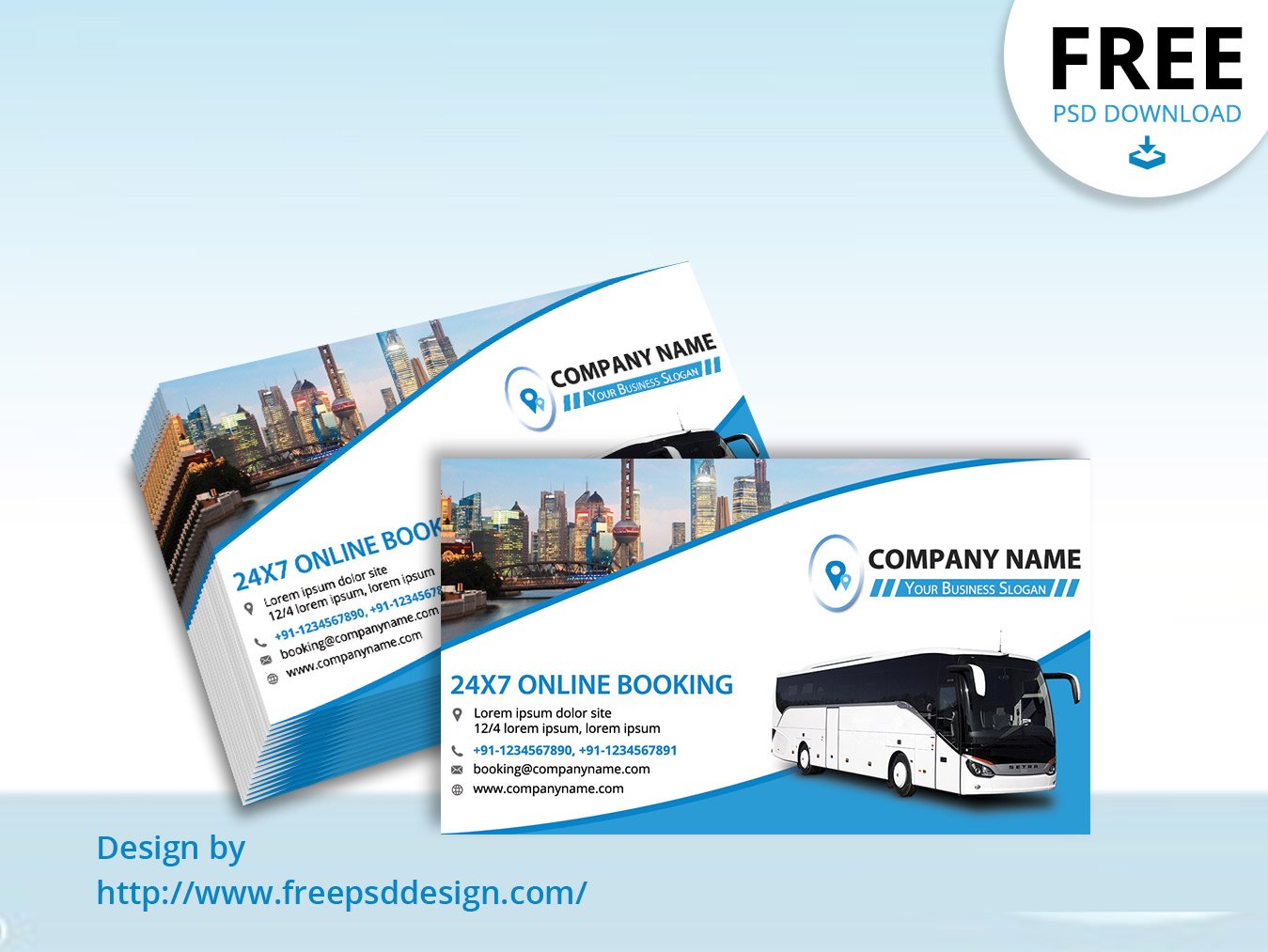 Travels Business Card Mockup PSD Template