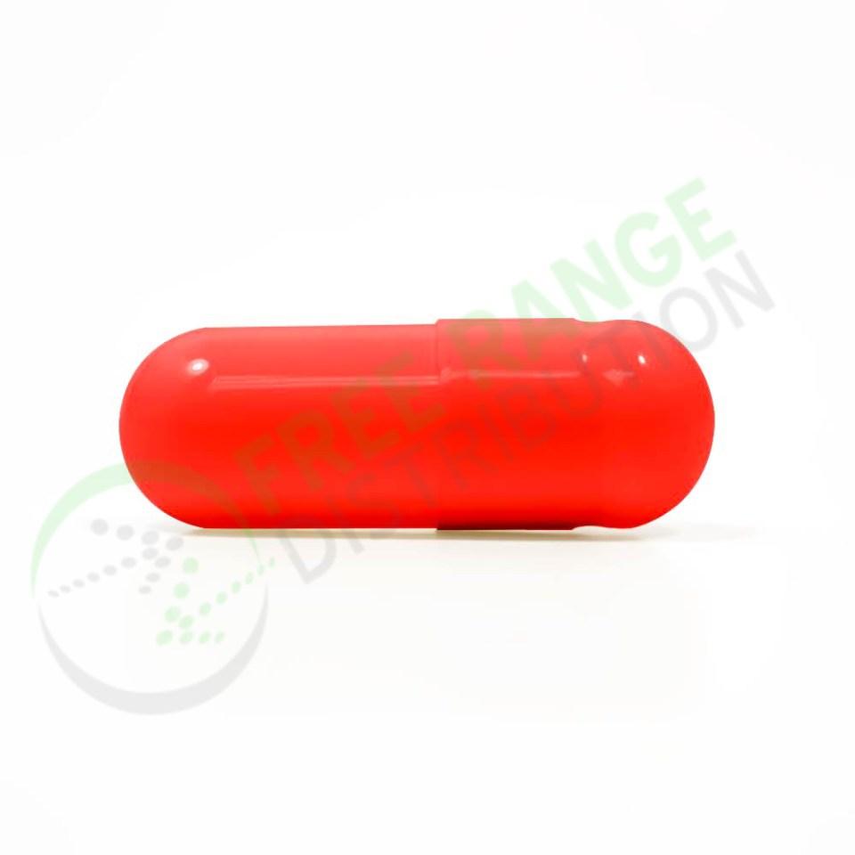 Red Gelatin Capsules