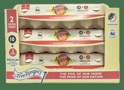 Special 10+2 pack - Medium Free Rangers Eggs