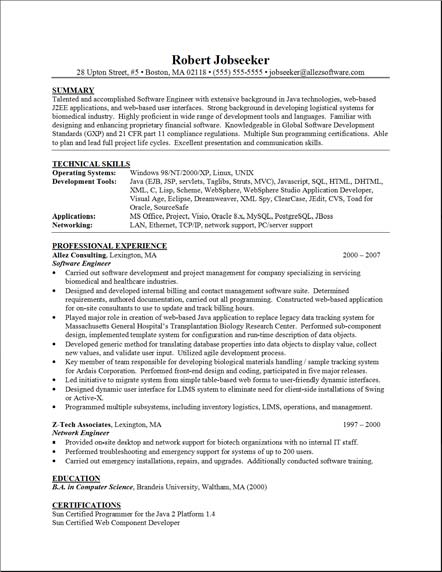 Functional Format Resume Template » Functional Resume Example