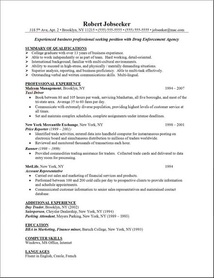 Server Skills Resume Sample | Resume Format Download Pdf