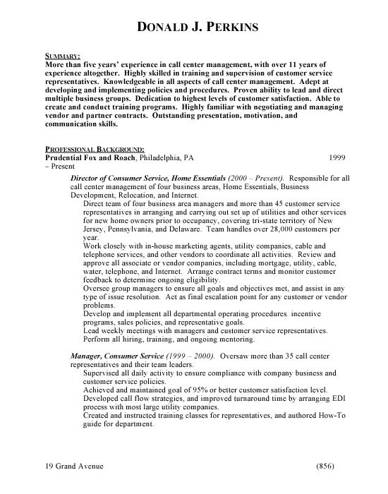 Copy Center Resume Sample. Customer Service Resume Occupational