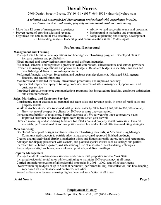 Best Retail Resume Examples. Retail Management Sample Resume