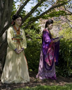 two women in Chinese traditional garments