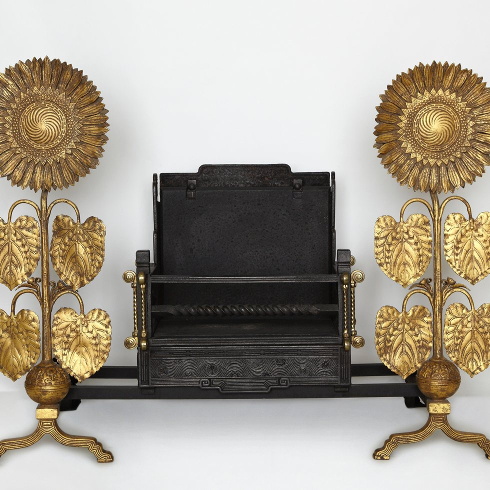 Sunflower andirons